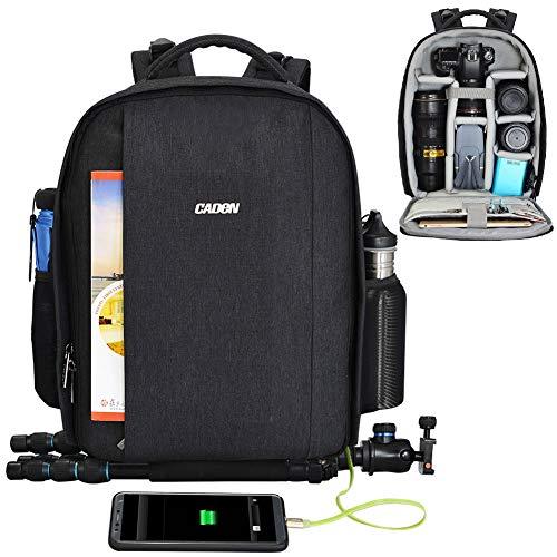 CADeN Mochila Camara Reflex - con Cubierta para Lluvia y Puerto USB Puede acomodar 2 cámaras 5...