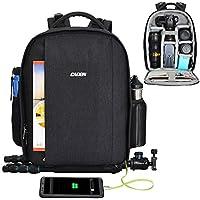 """Mochila cámara SLR CADeN con Puerto USB Puede acomodar laptops y trípodes de 14""""y Otros Accesorios de fotografía para Sony Nikon Canon Lens"""