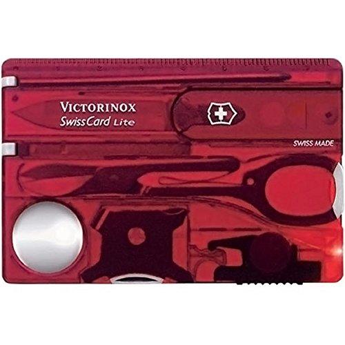 Victorinox SwissCard Lite Carta di Credito Multiuso Svizzero, Ruby