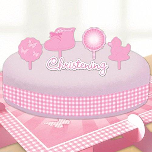Amscan Christening Booties Cake Decorating Kits, Pink