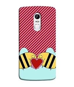 Fuson Designer Back Case Cover for Lenovo Vibe X3 (Love heart Girl Valentine Three Hearts)