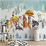 Cartoon Puppy Wallpaper 3D Benutzerdefinierte Wandverkleidung Wohnkultur Wandkunst Kinderzimmer Schlafzimmer Sofa Wohnzimmer Tv Hintergrund Wand 250 * 160 Cm