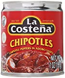 La Costena Chipotle Peppers in ADOBO Sauce 199g 7oz 1 pack