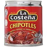 La Costena Chipotle Peppers de adobo Sauce 199g 7oz 1Pack