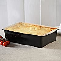 Mason Cash–perfetto Ovenware Lasagnera Rettangolare, Colore: Nero, 30cm tavola in gres