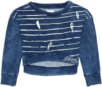 Diesel - Sweat-shirt -  - Crew - Manches longues Fille, Bleu - Light Indigo, 16ans