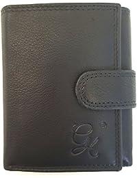 cc5b4bc26d Euro Leather Portafoglio Piccolo In Morbida Pelle 3 Sezioni Scomparti Carte  Di Credito 102(A