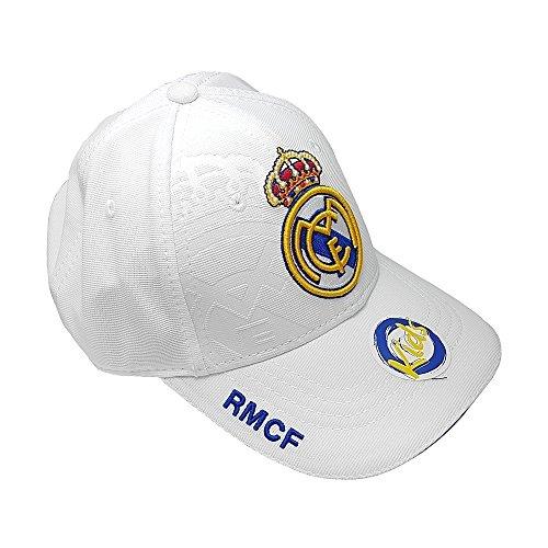 Casquette RMCF Real Madrid Junior Enfant Blanche réglable par scratch 2017-2018 1ère équipe Officiel