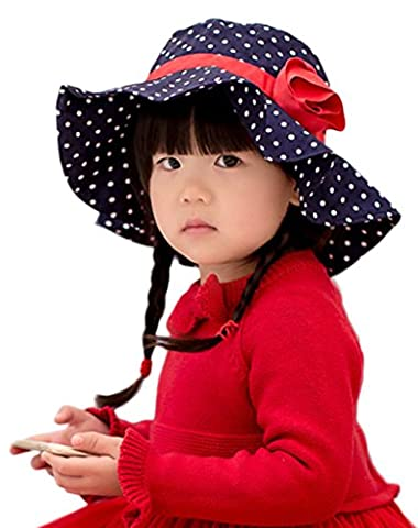Smile YKK Bébé Fille Coton Chapeau visière Décor Fleur A