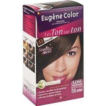 eugne color les ton sur ton n43 chocolat coloration sans ammoniaque lot de 2 amazonfr hygine et soins du corps - Coloration Color Et Soin