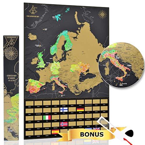 YOUR ADVENTURE Mapa Europa rascar 65 x 42 cm - Regalo