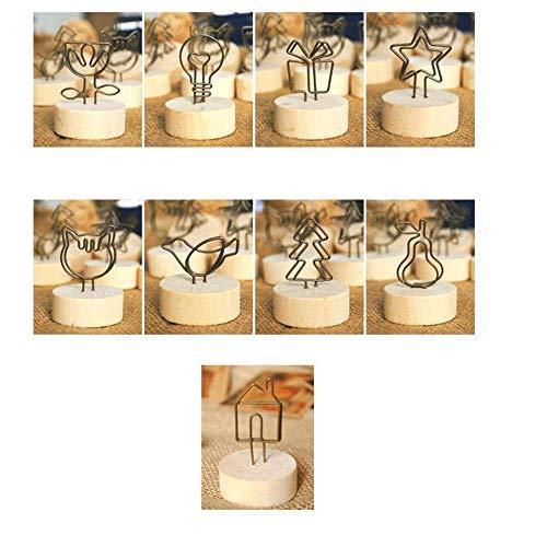 WDXGZY Dekoration,Foto-Clip Runde Aufzeichnungshinweis Clip Visitenkarte Nachricht-Ordner (9) (Halloween-veranda Beste Dekorationen)
