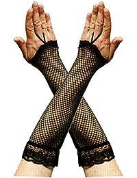 Fingerlose Netzhandschuhe für Abendgarderobe Kostüme Netz Handschuhe Handschuh