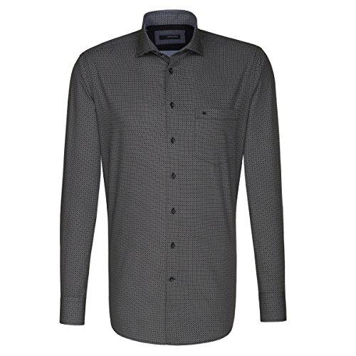Seidensticker -  Camicia classiche  - A quadri - Classico  - Maniche lunghe  - Uomo anthra (0037)