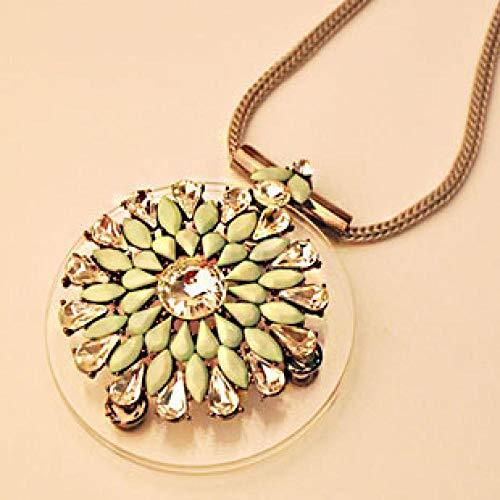 Relovsk Kurze Geld Kette Echte Schießen Mode Modeschmuck Runde Blume Kurze Halskette (Schießen Heiße Flüssigkeit)