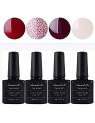 Annabelle Vernis à Ongles Semi Permanent Gel UV LED Nail Art Soak Off Manucure (7.3ml/pc Lot de 4) 044