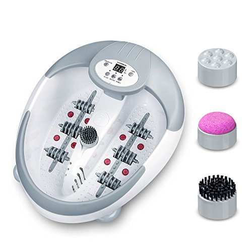 Hangsun Foot Spa and Massager with Heater FM600 LED Pedicure Foot Bath with Infrared Heat and Magnetic Therapy for Foot Care