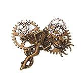 GRACEART Vendimia Steampunk Engranajes Reloj Broche Alfiler (Style-09)