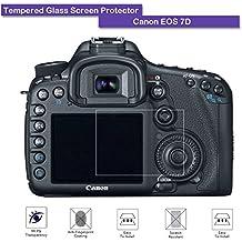 Canon EOS 7d Protector de pantalla de cristal templado–fiimi de pantalla LCD para Canon EOS 7d, 9h Dureza, 0,3mm de grosor, hecho de cristal