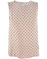 Noa Noa - NEW - Sleeveless Polka Dot Top, Dark Mint