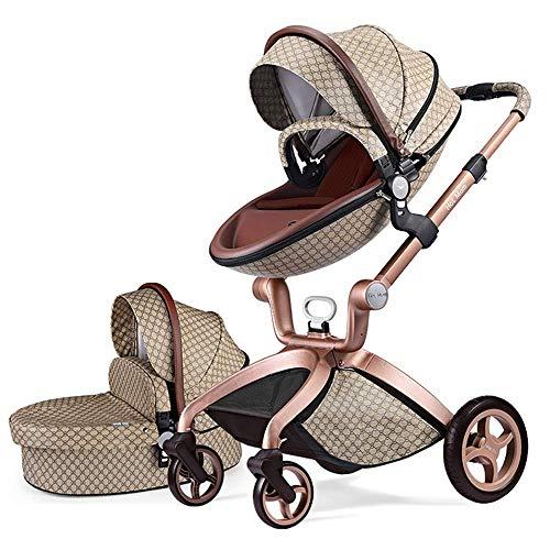 Hot Mom 3-1 Funktion Kombikinderwagen F22 mit Buggyaufsatz und Babywanne 2020 neues Design, Babyschale extra Kaufbar