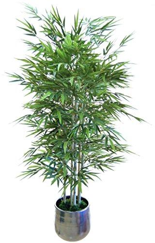 e-flor made man Bambú Artificial con Cañas Naturales. Ideal para Decoración de hogar, Materiales de Alta Calidad (150 cm)