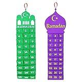 Handmade Felt Ramadan / Eid Hanging Countdown Calendars - Twin Pack w/ 2 Designs