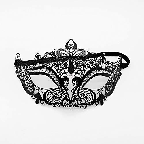 Newsland Frauen Sexy Augenmaske Partei Masken für Maskerade Halloween Venezianische Kostüme Karnevalsmaske für Anonym Mardi Pfeil [1 Maske] Eisenmaske