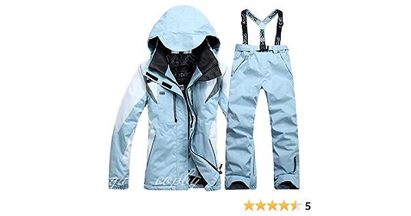 SxLingerie Skianzug Frauen M/änner Wasserdicht Windundurchl/ässig Winter Warm Snowsuit Skifahren Jacken Und Hosen Snowboard Schneemantel,Schwarz,XS