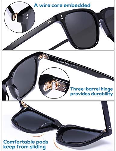 e23b9d94af Carfia Vintage Polarizzati Occhiali da Sole da Uomo Donna UV400 Protezione  Acetato Telaio