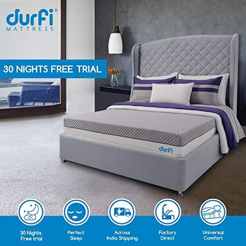 Durfi 8-Inch Orthopedic Queen Size Memory Foam Mattress in Grey (84x60x8 Inch, Memory Foam)