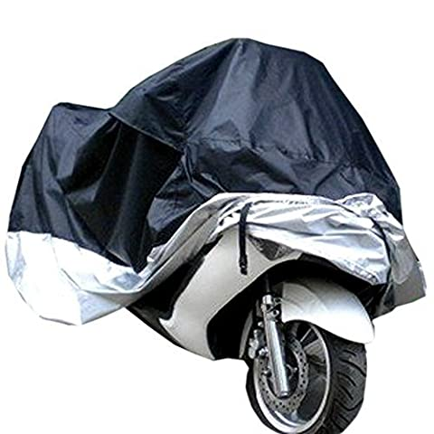 Lifees Indoor/Outdoor Motorcycle Cover Lifetime Limited Warranty Reflective Waterproof UV Protection Heat - Moisture Guard Vent Sportbike(Silver,