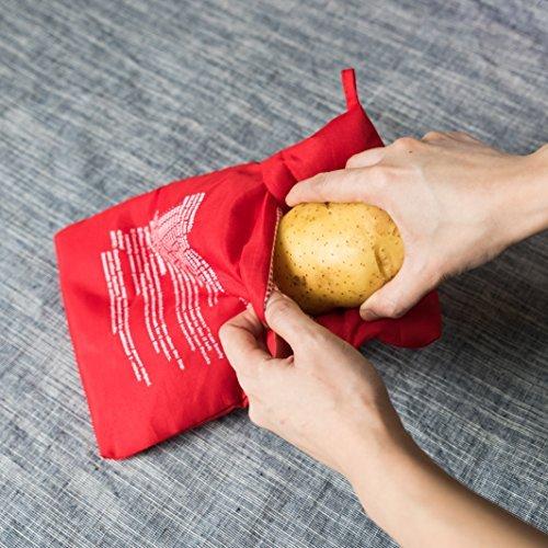 Microondas Baked Potato Cocina Bag- Express de patata, ideal patatas en 4minutos.