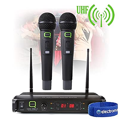 Q Audio QWM 1940 V2 HH UHF Wireless Handheld Microphone System DJ Performance PA Stage