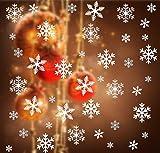 108 stück Schneeflocken Festerbild Abnehmbare Fensterdeko Statisch Aufkleber Dekoration für Weihnachten Neues Jahr - Wiederwerwendbar