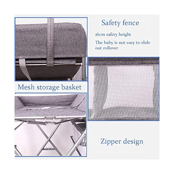 QZQKQ Universal Baby Cot Top Changer Portable Changing Table Diaper table Folding Baby Changing with Safety Straps QZQKQ *Material: Linen cloth, steel pipe *Suitable for 0-12 months baby, most comfortable height for you to take care of your baby *Quick and easy folding or collapsible by folding mechanism 7
