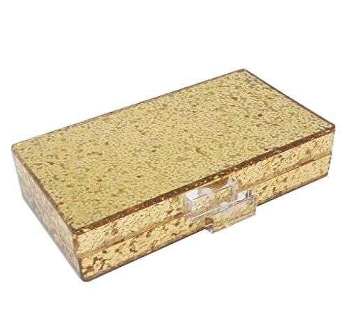 FZHLY Sacchetto Di Sera Acrilico Dei Sequins Del Motivo Dell'occhio,Black Gold