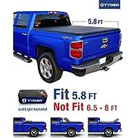 Tyger Auto TG-BC3C1006 Tri-Fold Tonneau Truck Bed Cover (For 2014-2016 Silverado/Sierra 1500 & 2015 Silverado/Sierra 2500 HD/3500 HD 5.8' (69.6)) by Tyger Auto - Sierra 2500 Hd