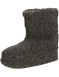 Woolsies Yeti Natural Wool Slipper Booties - Zapatillas de casa unisex