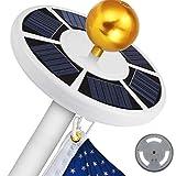 FENG 2019 neue 42 LED Solar Fahnenmast Lichter Zelt Lichter Flagge Lichter Camping Lampe Wasserdichte Lampe (Weiß)