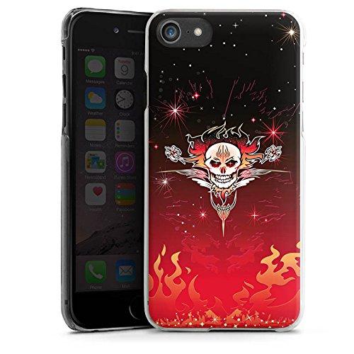 Apple iPhone X Silikon Hülle Case Schutzhülle Tribal Schädel Tattoo Hard Case transparent