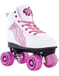 Rio Roller Kids Quads Pure White/Pink Kids 5uk