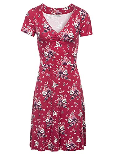 Vive Maria Mon Amour Dress red Allover, Größe:M