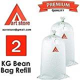Aart Store Soft Thermocol Beans for Bean Bag Filling 2 kg Filler