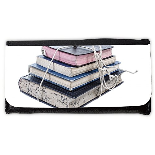 Cartera unisex // M00290648 Vecchio libro mucchio pila scaffale // Large Size Wallet