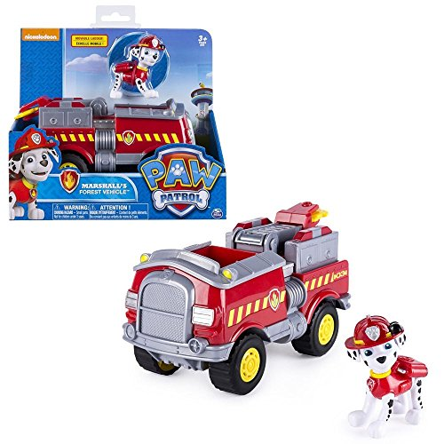 Paw Patrol - Fahrzeuge mit beweglichen Spielfiguren zur Auswahl, Figur:Marshall Forest