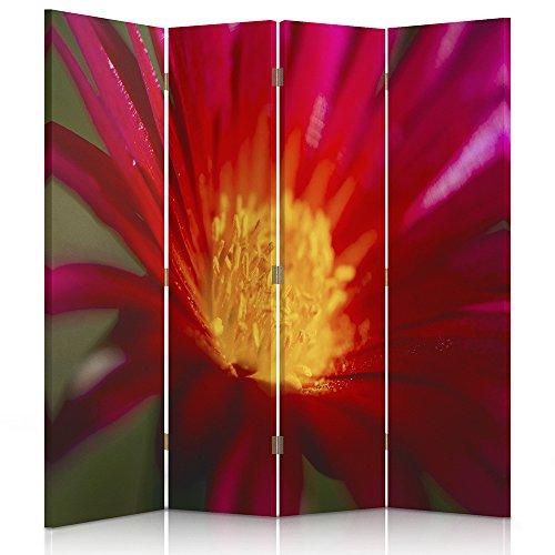 Feeby Frames. Raumteiler, Gedruckten auf Canvas, Leinwand Wandschirme, dekorative Trennwand, Paravent einseitig, 4 teilig (145x150 cm),...
