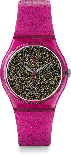 Swatch Damen Digital Quarz Uhr mit Silikon Armband GP149