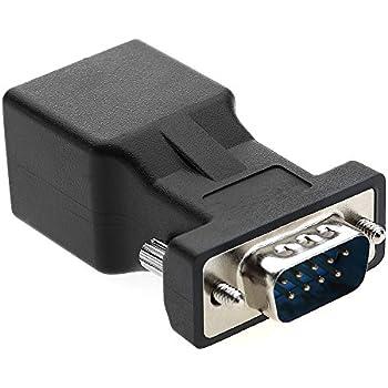 Port S/érie DB9/9/Broches Femelle et Mle vers RJ45/Femelle Cat5//6/Ethernet//LAN Console Lot DE 2 18/cm//17,8/cm Cgtime RJ45/vers RS232/Cble