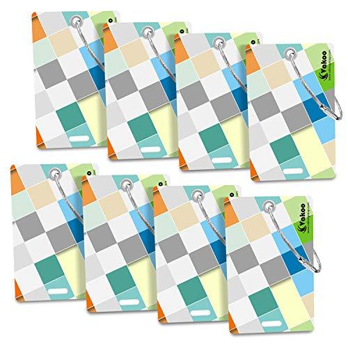 Vakoo Etiquetas para Equipaje, 8 Pack